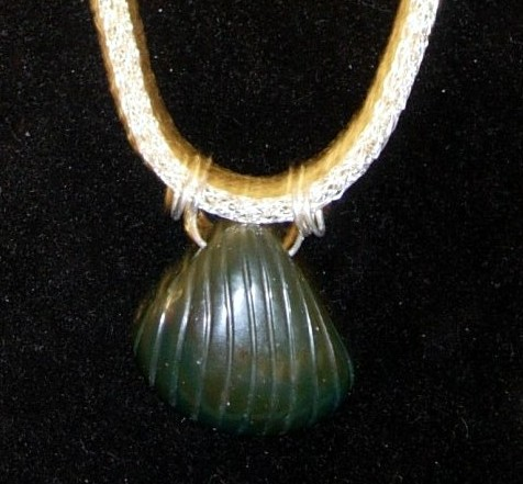 Green Stone Shell Pendant