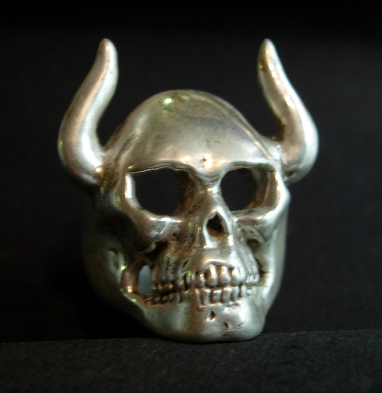 Large Horned Skull Ring-Sp