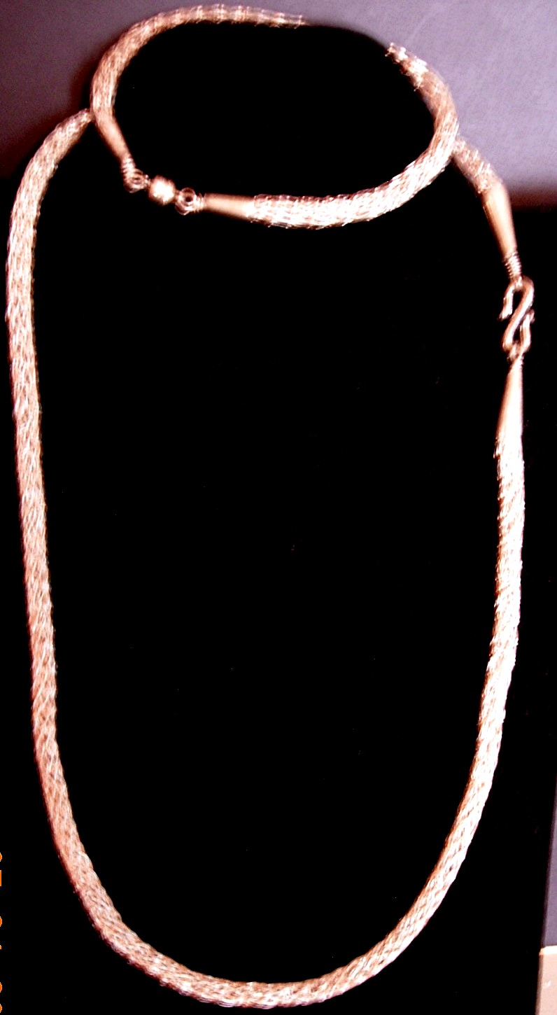 Sterling Silver Knitted Necklace